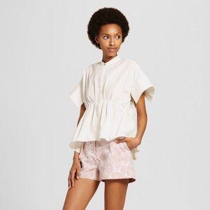 Victoria Beckham Target White Poplin Top XS